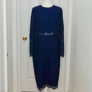 NWT ASOS  Lace Long Sleeve Formal Dress (Size 16)